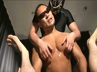 Muscular asian gang bang