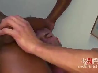 White hunk drilled raw by 2 black guys dp