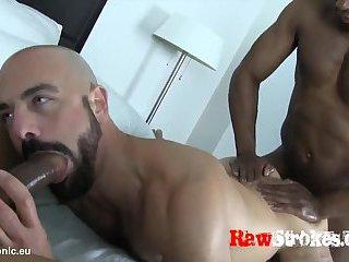 Two black man fuck Adam