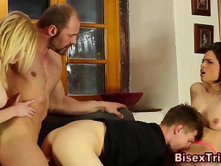 Group bisexual sex