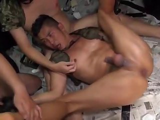 japan  army muscle group fucked bang bang