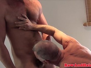 Greywolf rimmed before barebacking thick dick