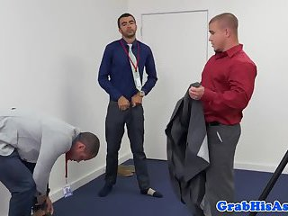 Suited Hunk Buttfucks His Colleague