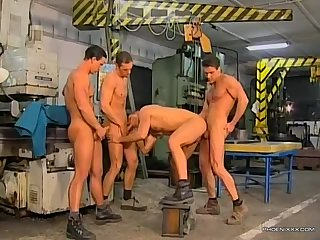 The alpha male of the factory needs to shoot some cum, and all the other guys are totally on board