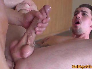 Straight masculine jock throating bigcock