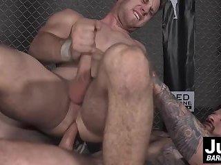 Hot stud Jordan Levine annihilates the ass of Brandon Evans