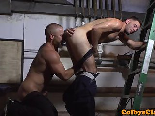 Athletic Hunk Gets Nailed In Untouched Ass