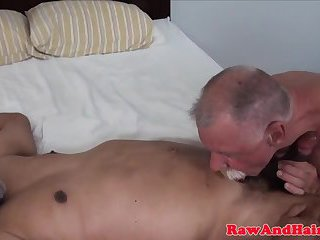 Silver wolfs enjoying bareback session