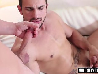 Big dick boy oral sex and cumshot