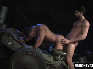 Big dick military rimming with cumshot