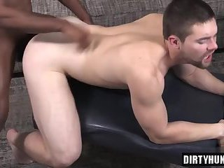 Muscle jock domination with cumshot