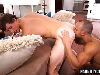 Big dick boy rimming and cumshot