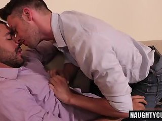 Latin boy rimming with cumshot