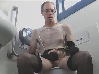 CD Stocking Public Toilet Wanker