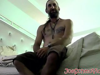 Big daddy slurping and licking hairy dudes big dick