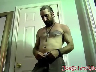 Large daddy slurping and licking hairy dudes large penis