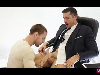 Tayte Hanson quick blow Jay Roberts cocks