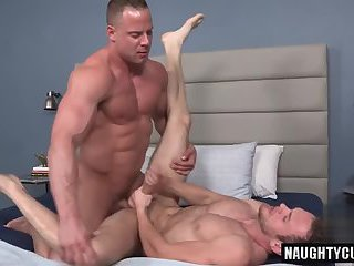 Tattoo boy anal sex and cumshot