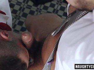 Big dick gay fetish with facial