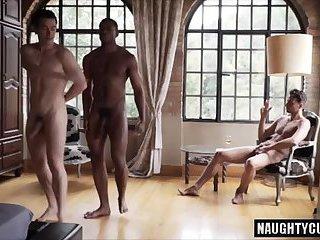 Big dick gays threesome and cumshot