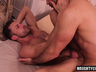 Hairy bottom anal sex with cumshot