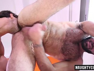Latin gay anal with facial cum