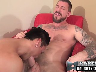 Asian daddy anal sex with cumshot