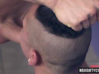 big dick gay spanking and facial
