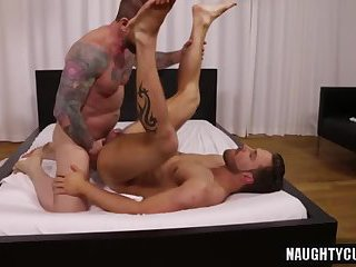 Big dick gay ass to mouth and cum kiss