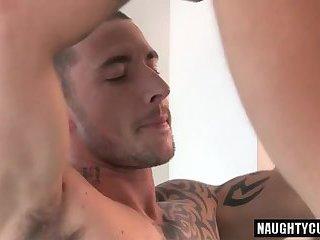Big dick gay handjob and cumshot