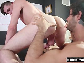 Big dick student oral sex with cumshot