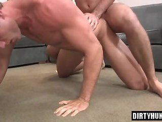 Muscle jock anal sex with creampie