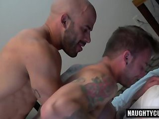 Big dick jock anal sex with cumshot