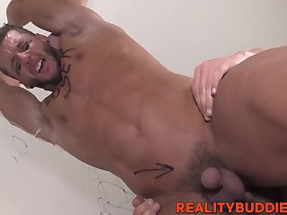 Cute football loser getting his asshole railed by collegues
