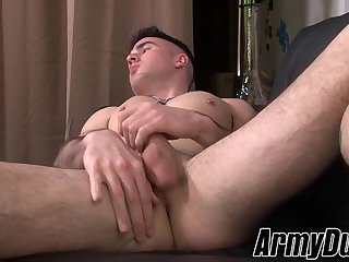Tattooed soldier Jay Ice jerking his monster cock for you