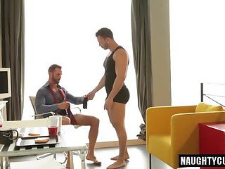 Hairy gays flip flop with facial