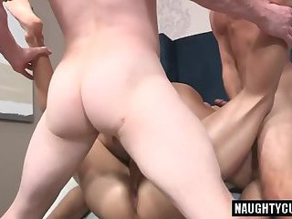 Hot jock foursome with creampie