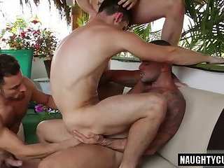 Hot gays ass to mouth and cumshot