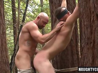 Hot son spanking and cumshot