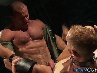 Bondage ripped hunks jizz