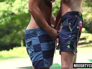Big dick gays flip flop and cumshot