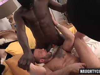 Big dick son threesome with cumshot