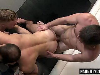 Russian Gay Threesome And Facial