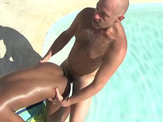 Daddy Sailor Blue Bareback Fucks Donny Ray