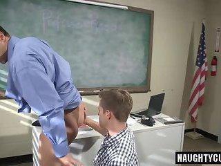 Hot jock spanking and cumshot