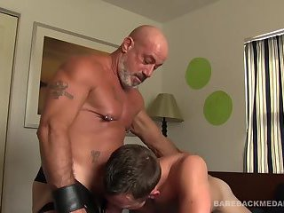 Daddy Scott Bareback Fucks Colby Cross