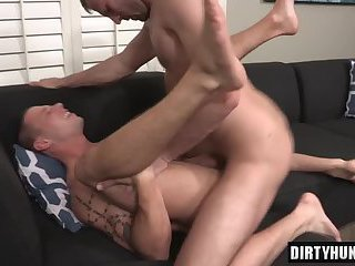 Muscle gay anal sex and creampie