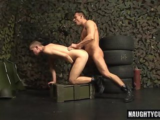 Big dick military oral sex and cumshot