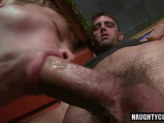 Hot gay public sex and anal cumshot