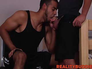 Hot and hairy college students railing and barebacking